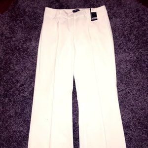 New York & Company White Wide Leg Dress Pants